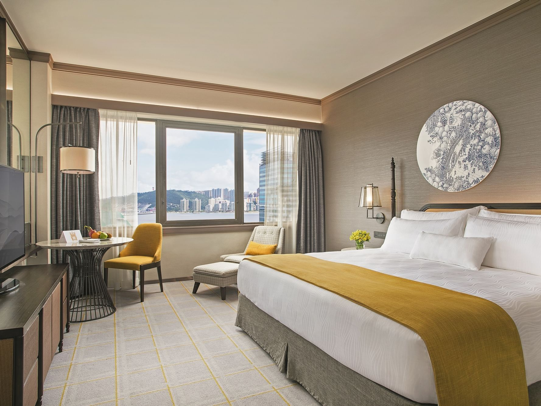 Deluxe room with king sized bed at Artyzen Grand Lapa Hotel Macau
