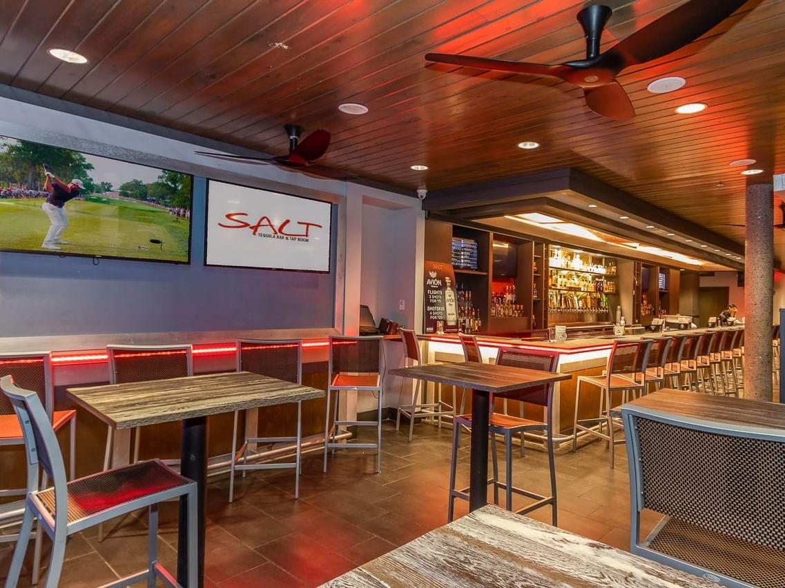 Interior view of Salt tequila bar in Shephard's Beach Resort