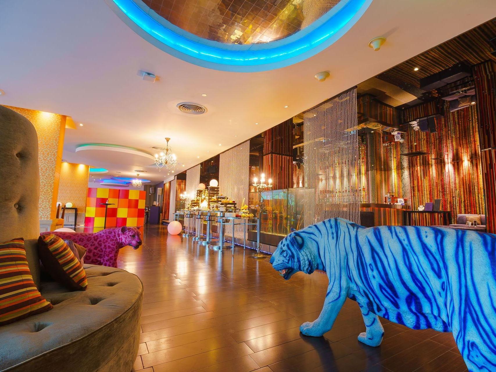 Tow tiger statue in flava venues meeting room at Dream Bangkok