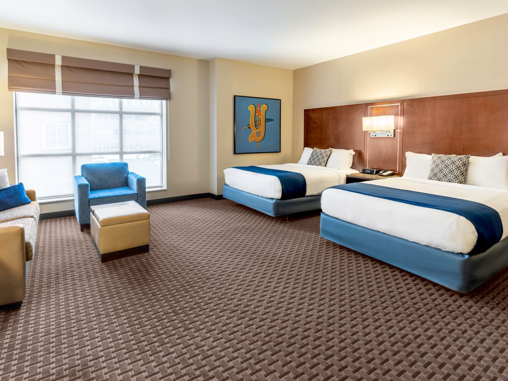 Studio Suite with two beds at New Haven Hotel
