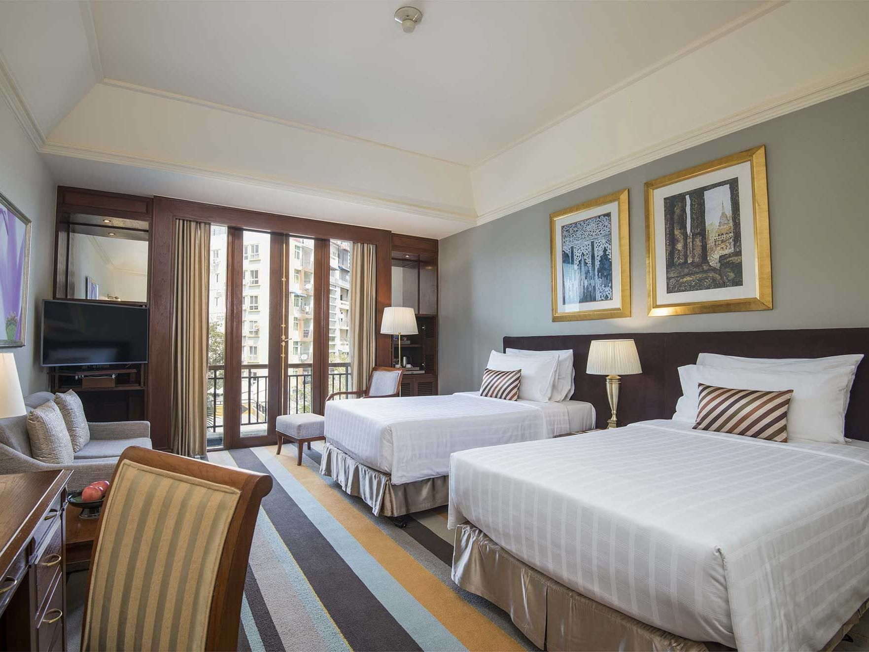 Deluxe room city view at Chatrium Hotel Royal Lake Yangon