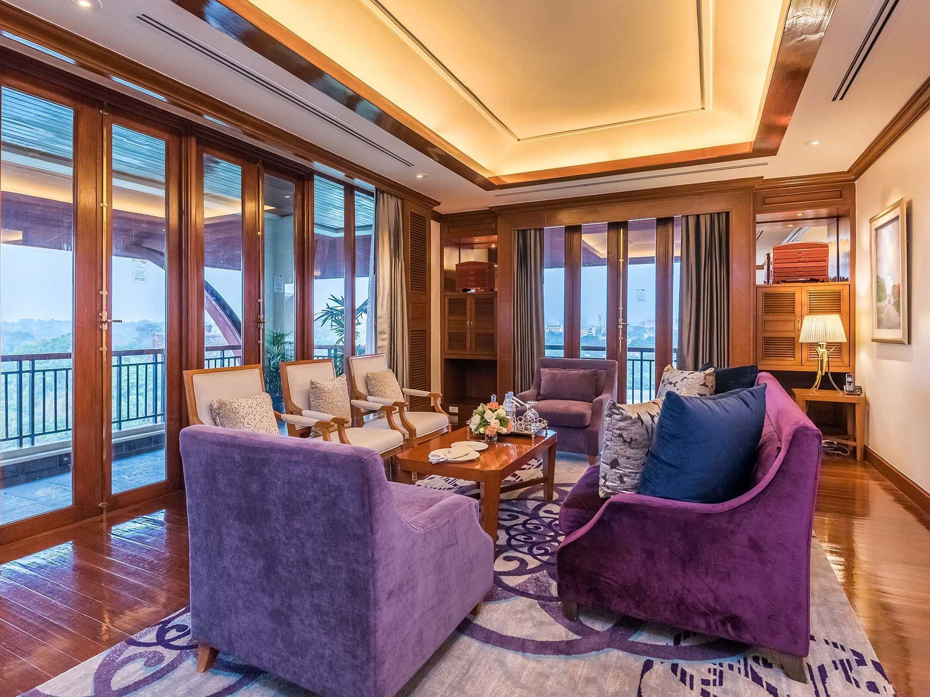 View of living room in Royal Suite at Chatrium Hotel Royal Lake