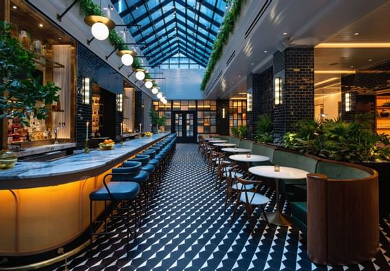 The Bar & Lounge area of Stateside Kitchen at Dream Nashville