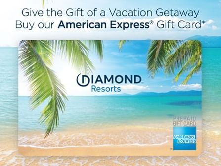 American Express gift card of Diamond Resorts