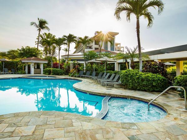Pool and Spa at Maui Coast Hotel Kihei