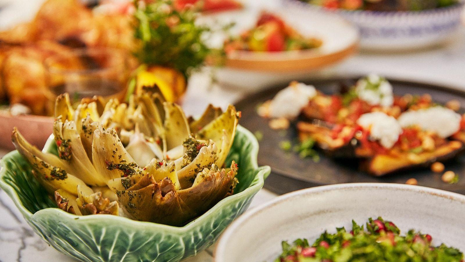 Food at El Patio Restaurant at Marbella Club Hotel