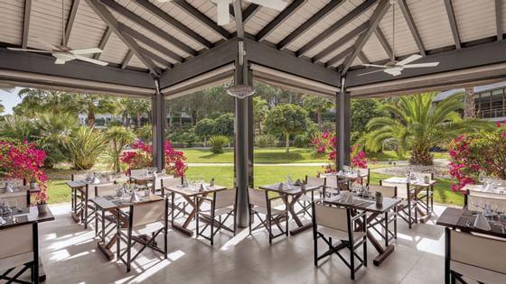 terrace restaurant at Precise Resort El Rompido