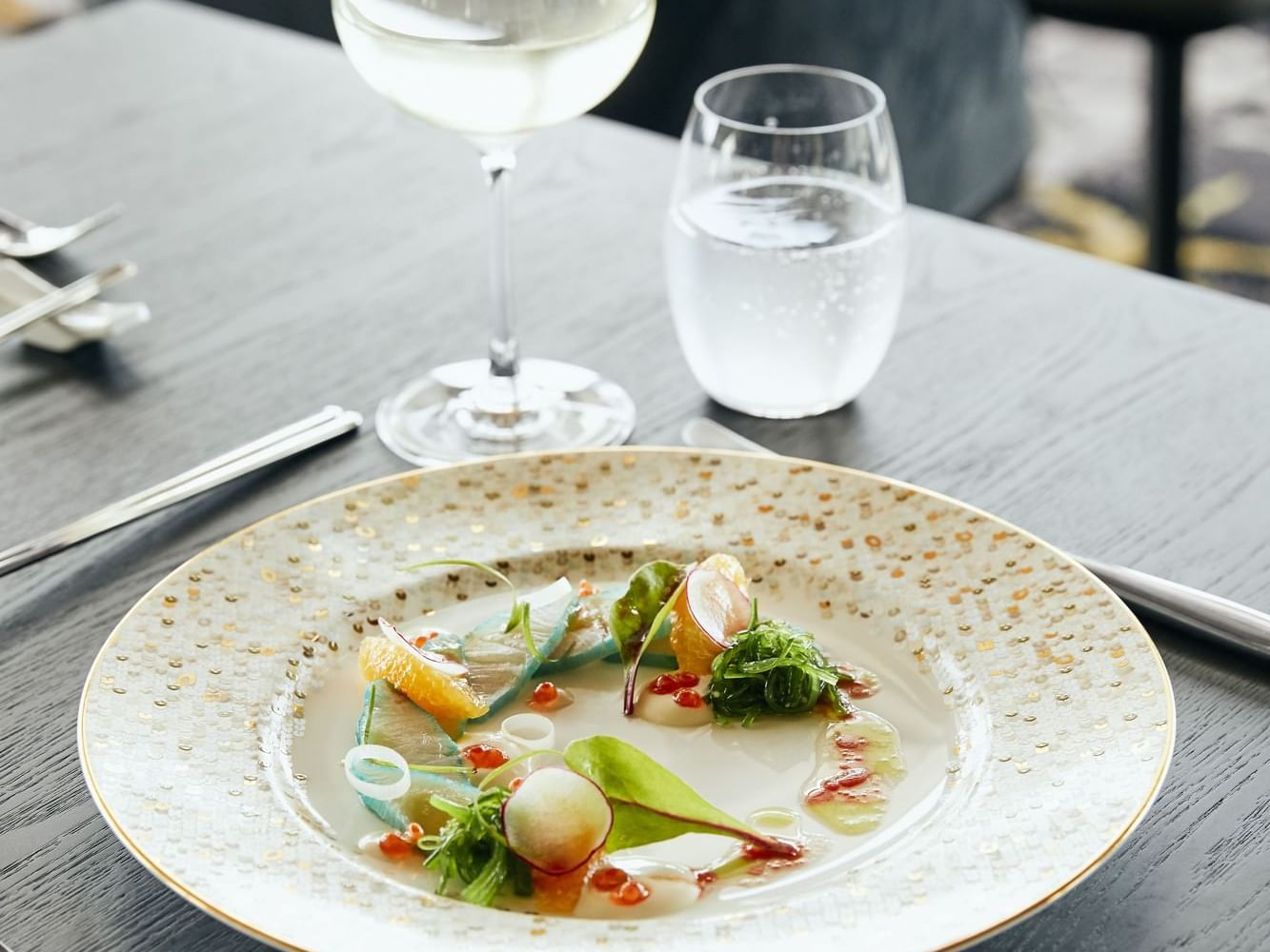 Seafood dish in Infinity Restaurant at Daydream Island Resort