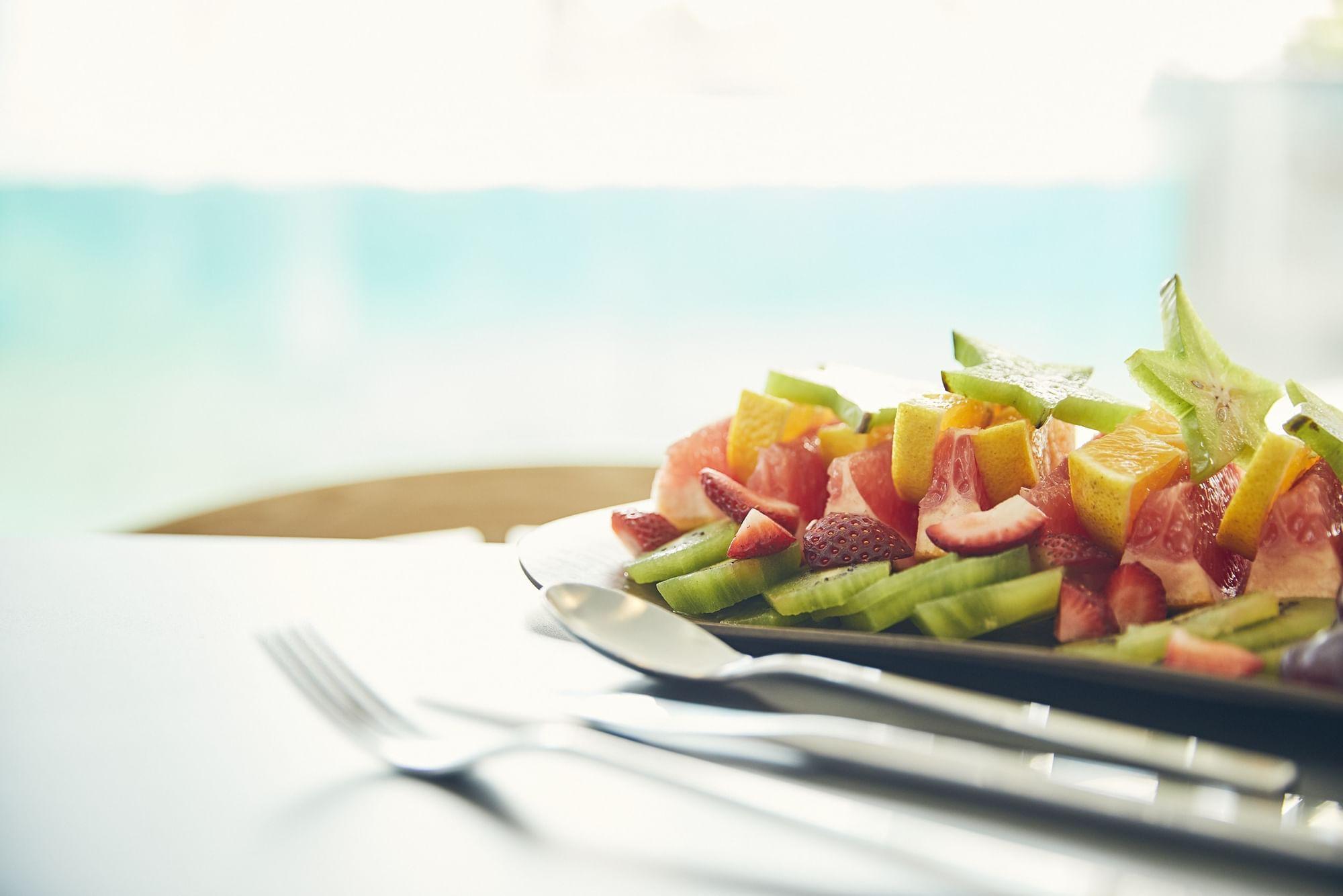 Salad served in Graze Restaurant at Daydream Island Resort