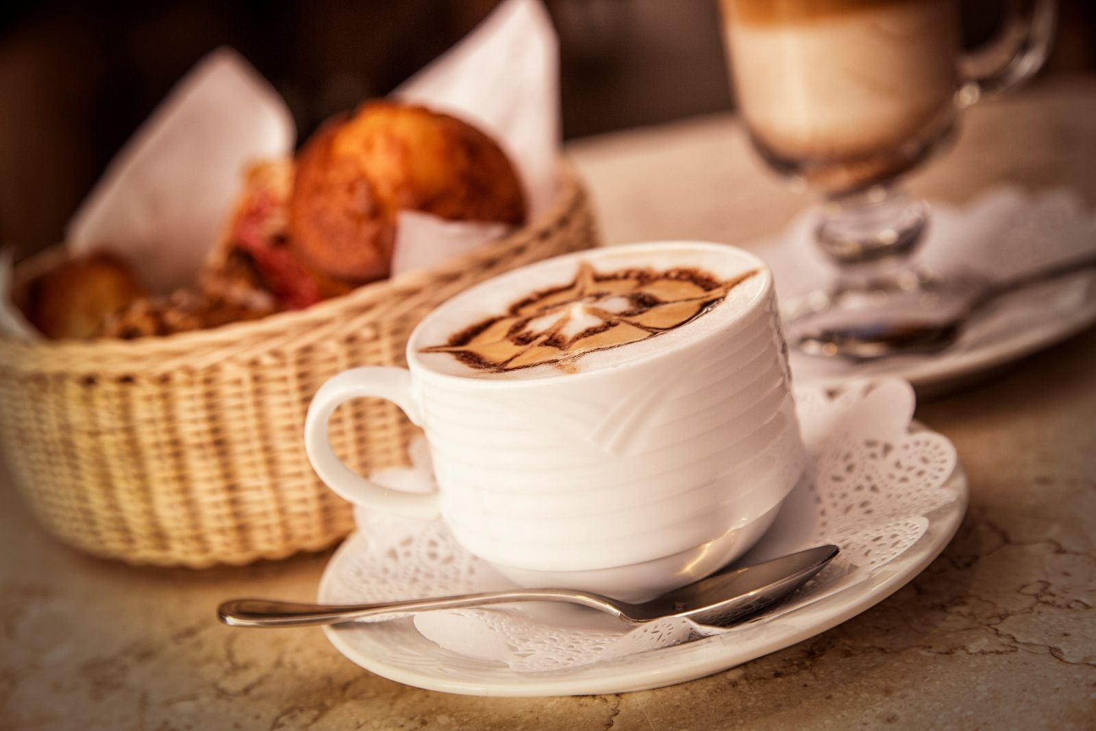 A fresh made hot latte - Marquis Los Cabos