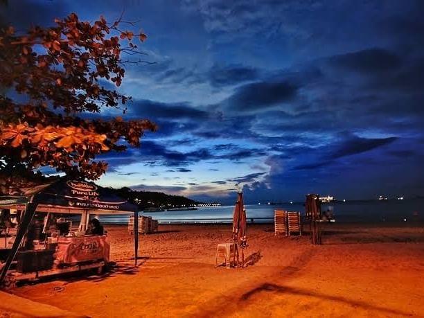 Patong Beach in evening