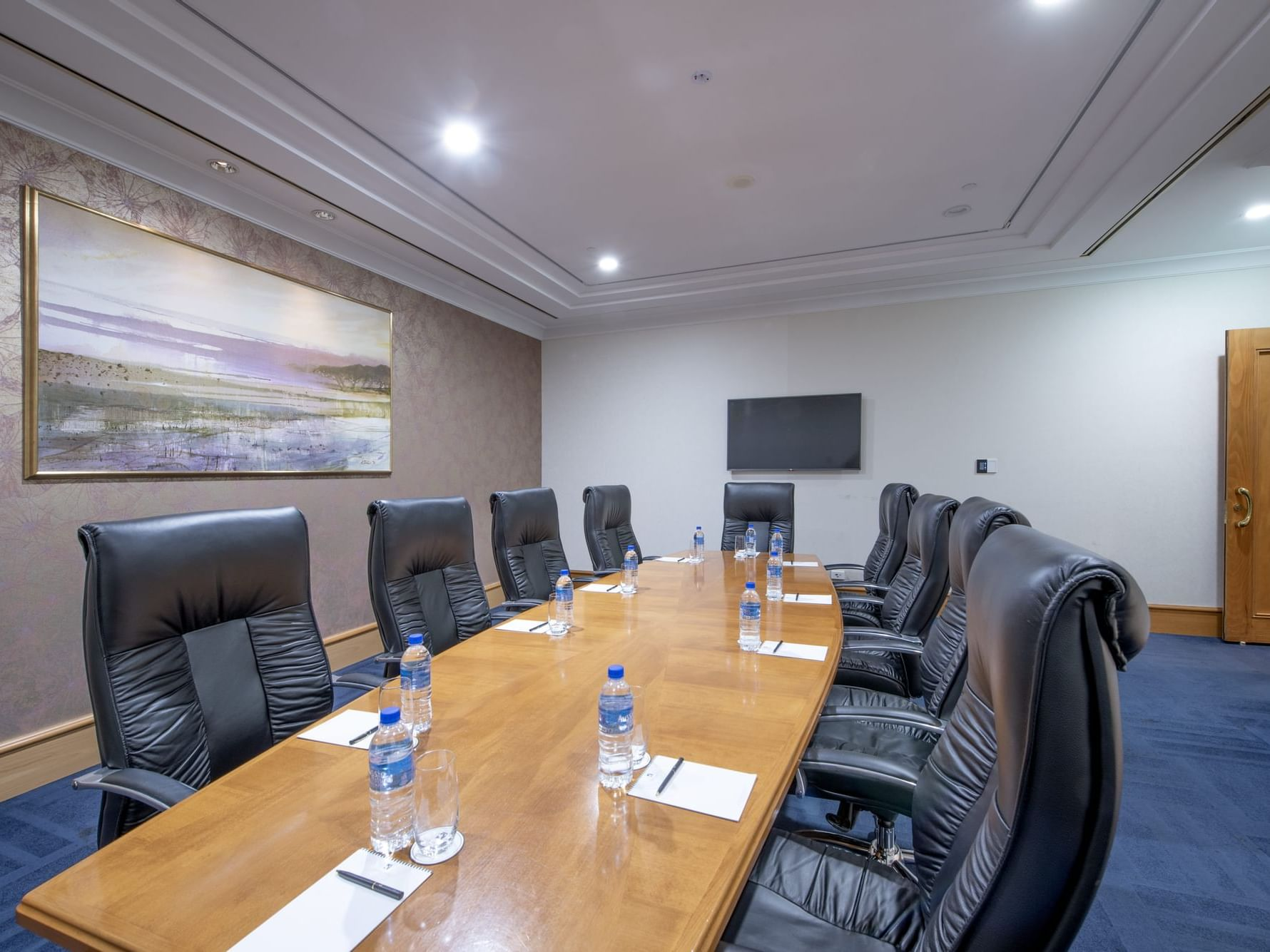 Board Room table in a meeting room at Duxton Hotel Perth