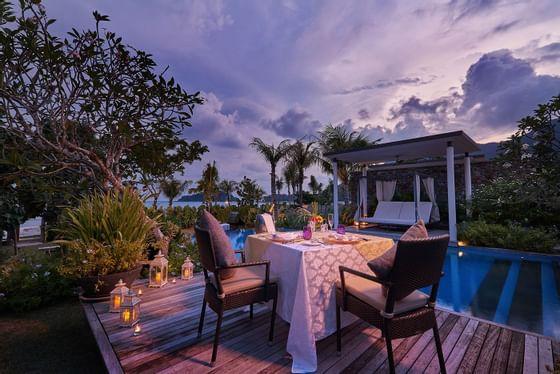 Private Villa Dinner overlooking Andaman sea at Danna Langkawi
