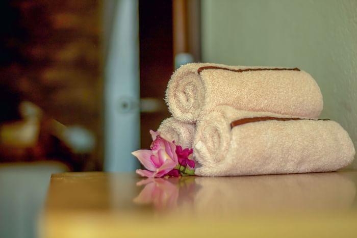 massage towels at Sunset Plaza Beach Resort