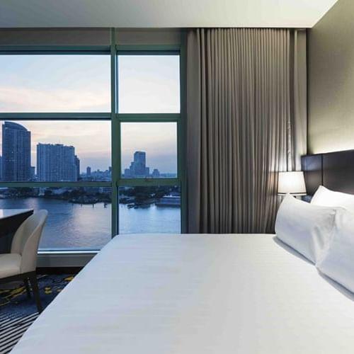View of a Bedroom at Chatrium Hotel Riverside Bangkok