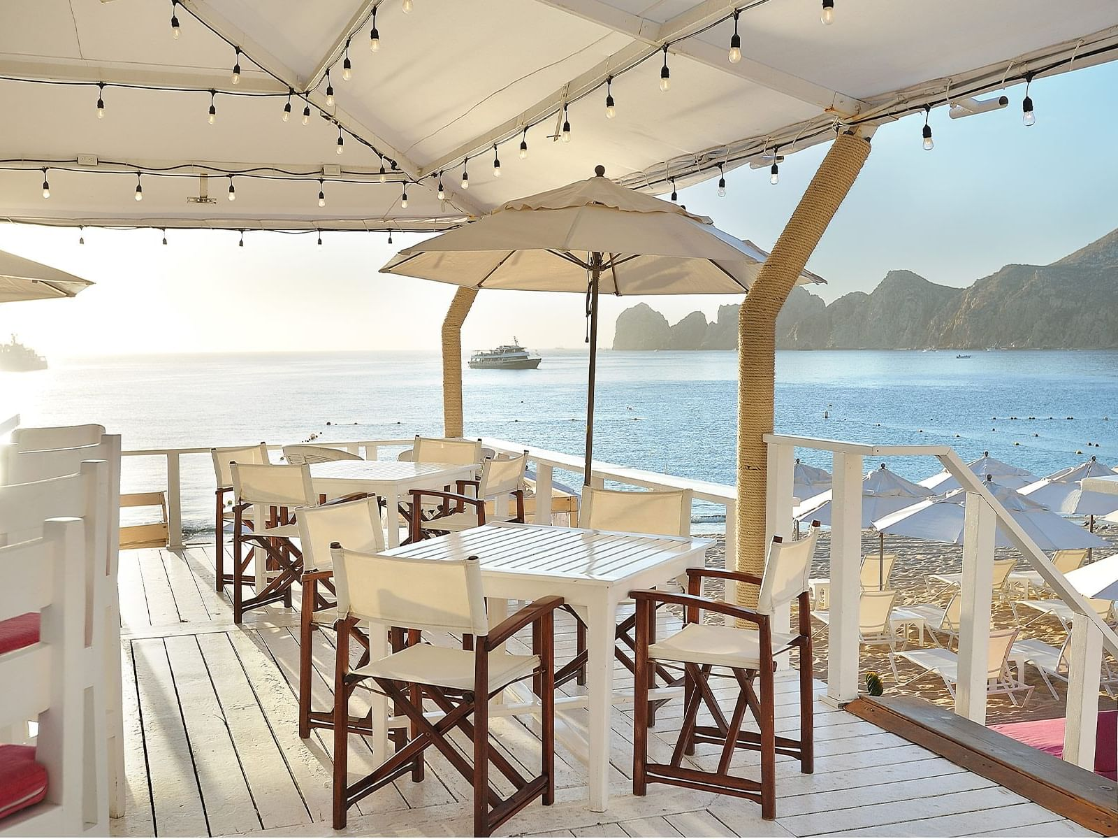 Seating area in Cachet Beach Club at Cabo Villas Beach Resort