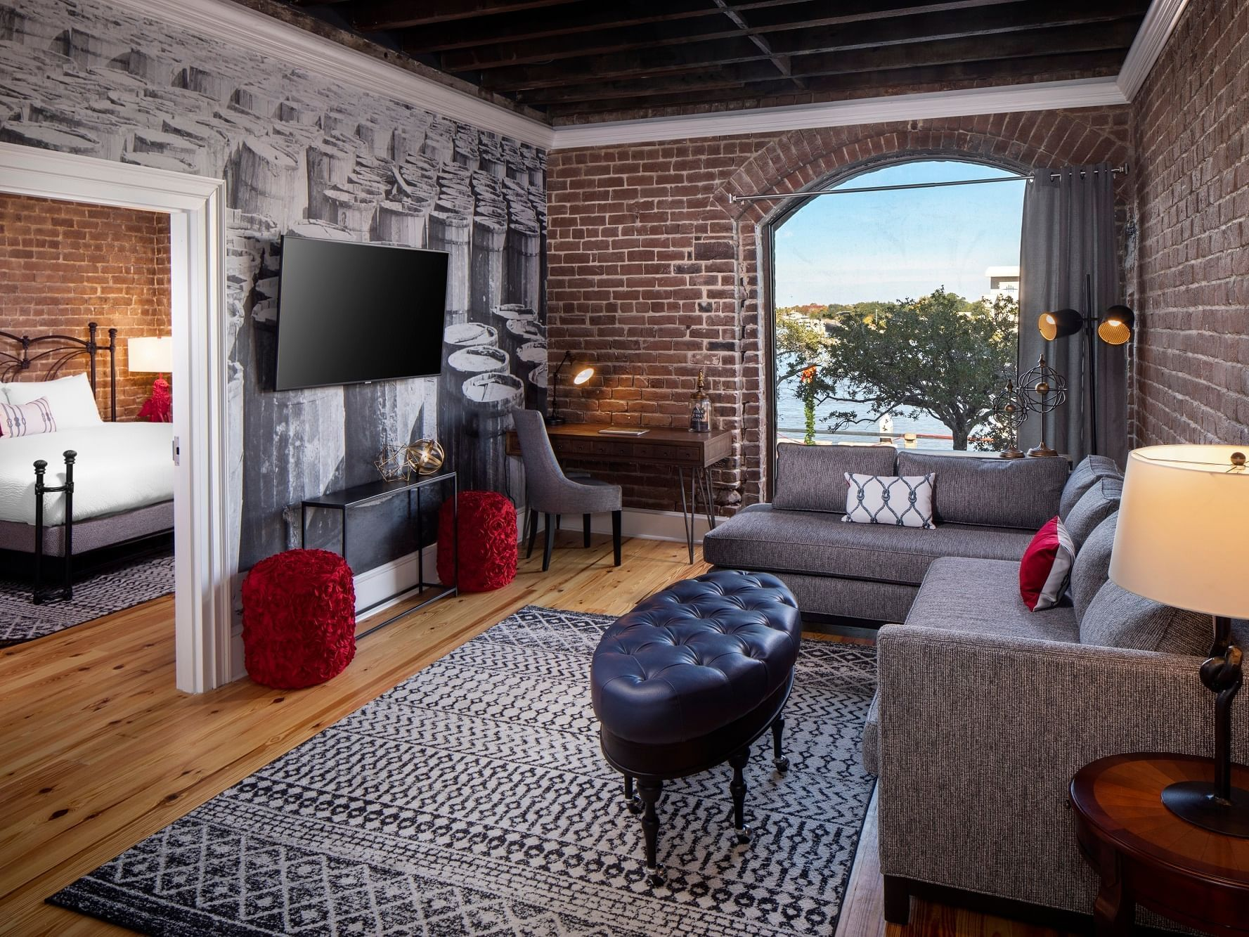 City view fully equip bedroom at River Street Inn