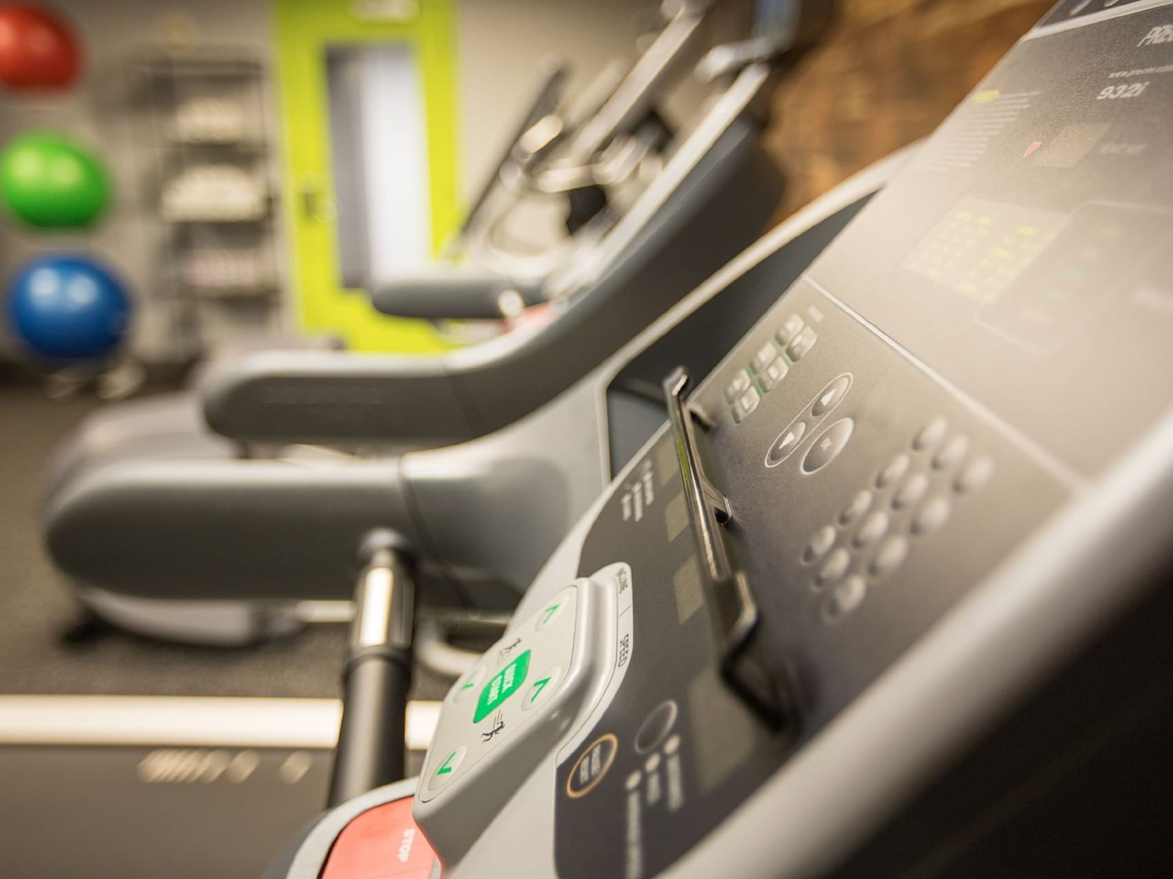 The fully-equipped fitness center at Paramount Hotel Seattle