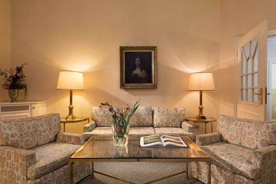 Lounge area in Grand Suite at Precise Bad Reichenhall Bavaria