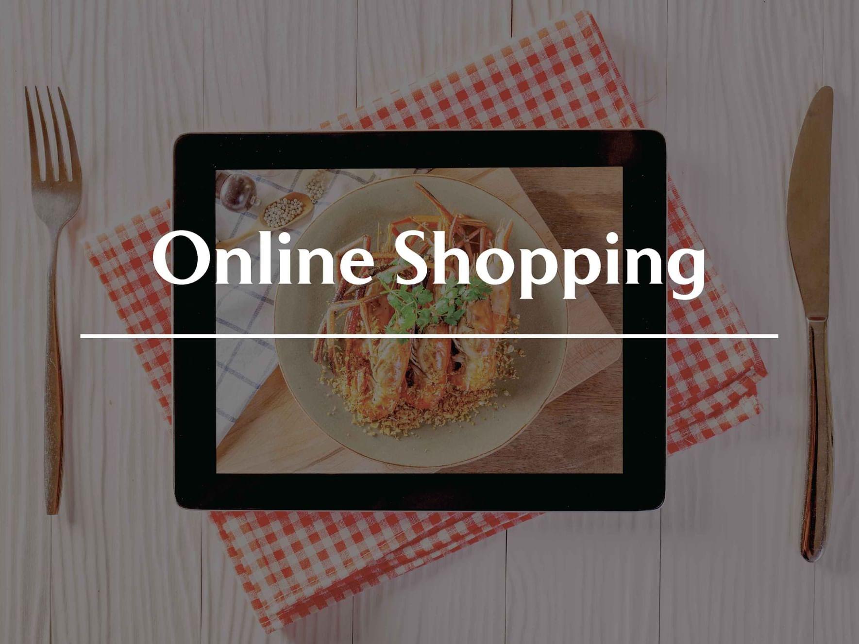 A poster online shopping at The Saujana Hotel Kuala Lumpur