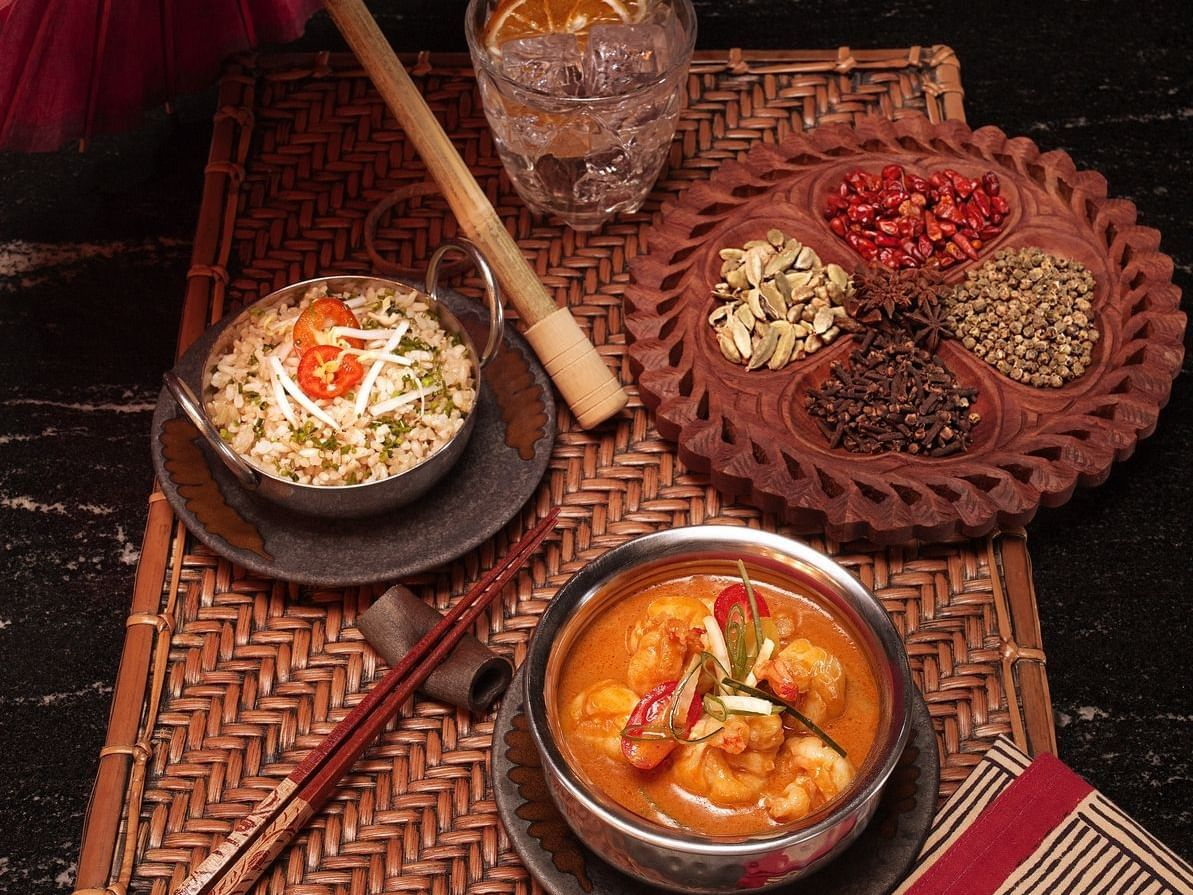 Traditional foods served in restaurant at La Coleccion Resorts