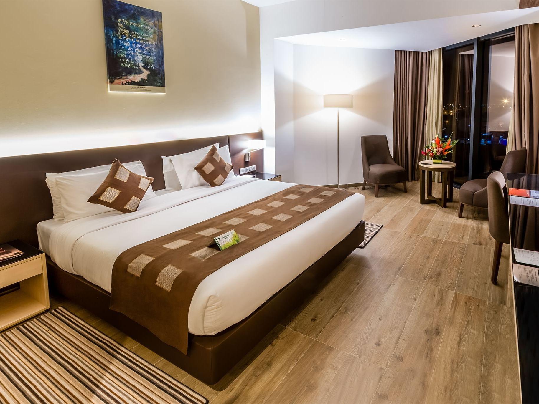 Standard room in the Azalai Hotel Abidjan