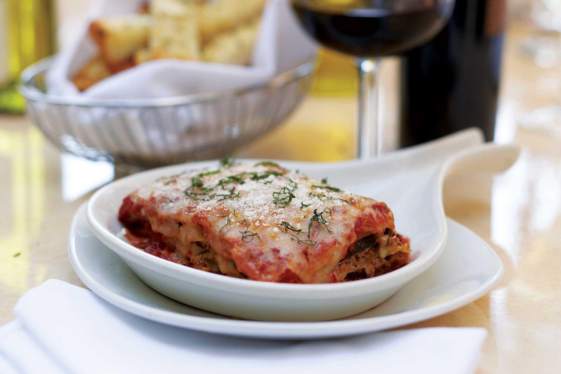 plate of lasagna