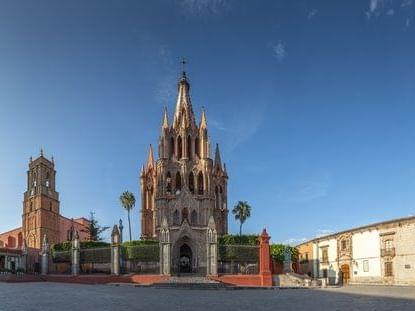Castle type building in the San Miguel de Allende city