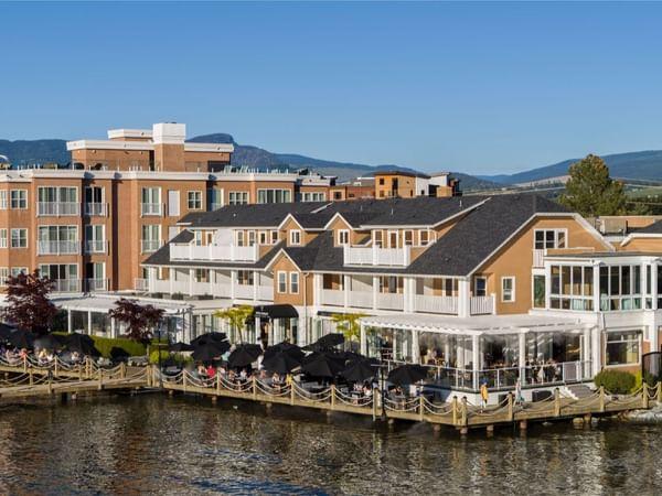 Exterior photo of Hotel Eldorado on the lake.
