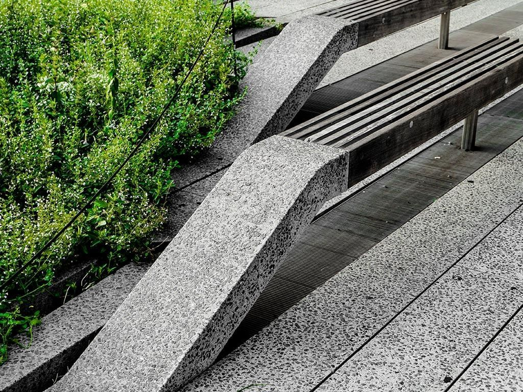 a seat on the High Line