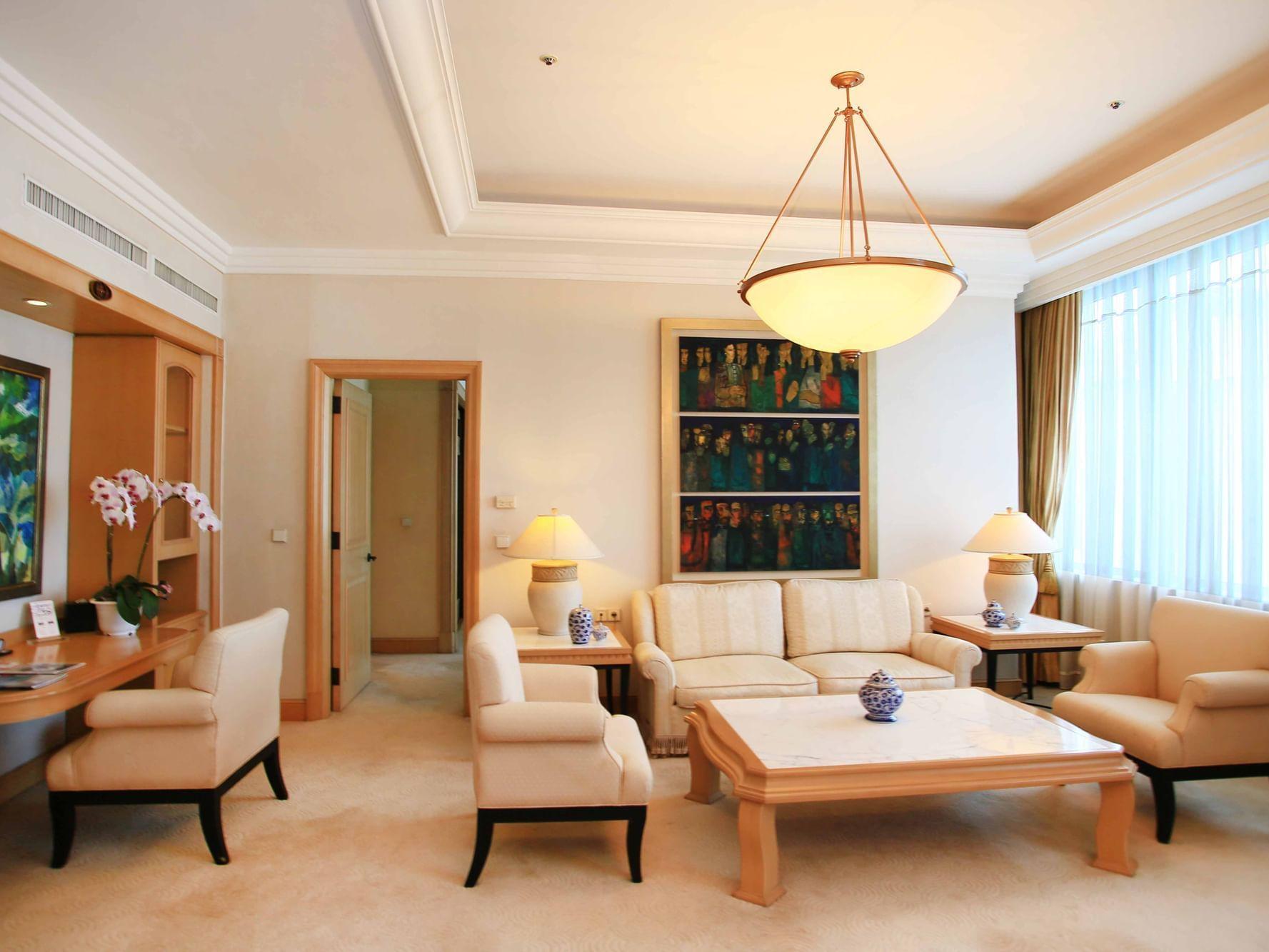 Senator Suite living area at Hanoi Daewoo Hotel