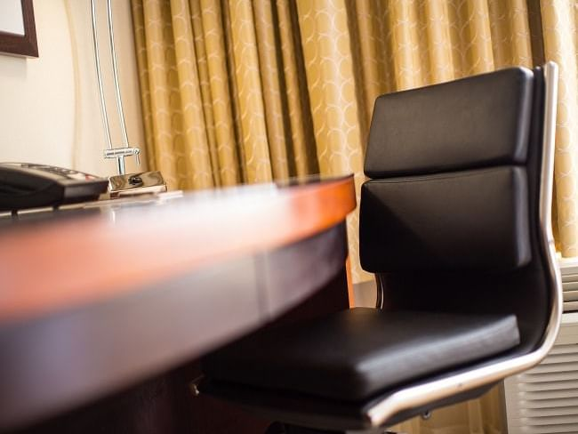 Desk with chair Deluxe Double Queen at Paramount Hotel Seattle