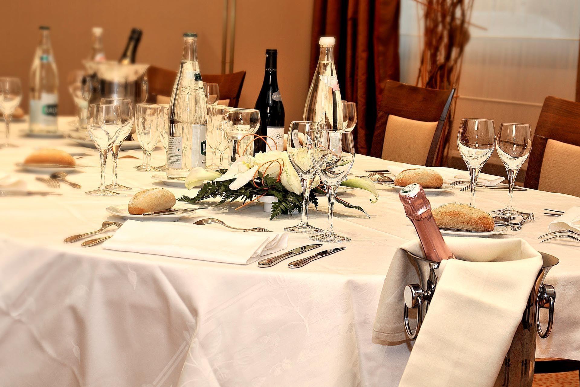 Banquet close-up