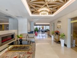 Lobby area at CVK Taksim Hotel in Istanbul