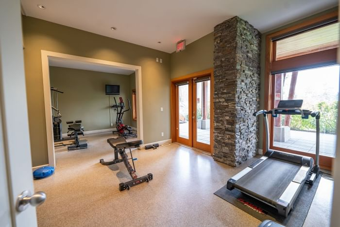 Fitness center at Outback Lakeside Vacation Homes