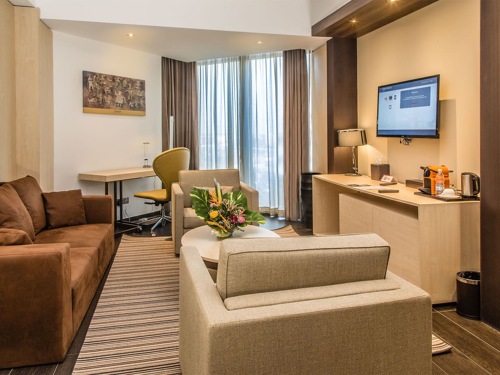 Superior room with comfortables sofas and tv