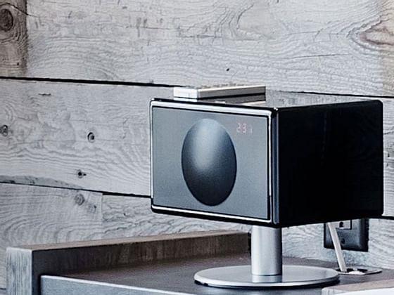 Geneva sound system machine on a table at Hotel Jackson