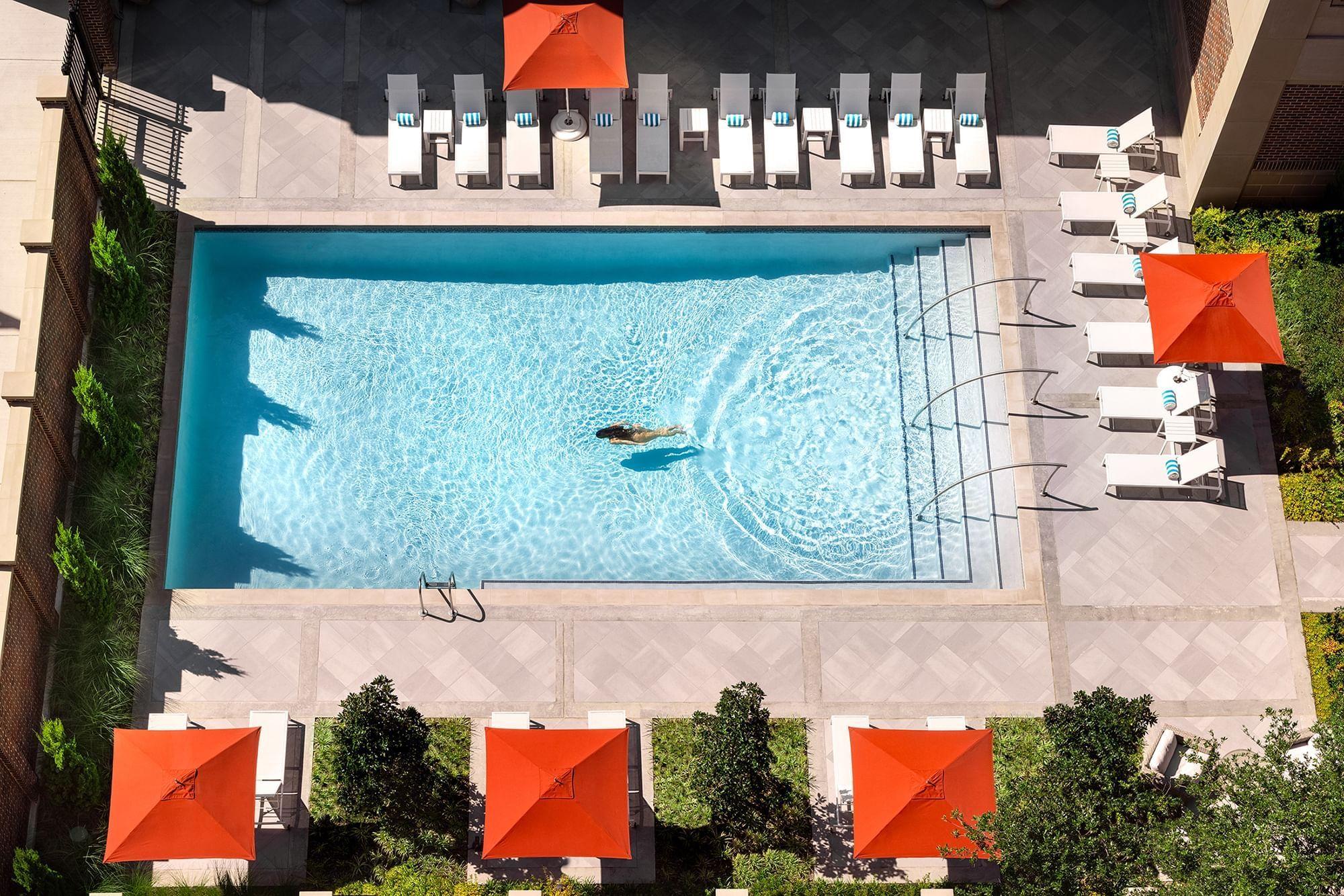 Warwick Melrose Dallas swimming pool girl swimming