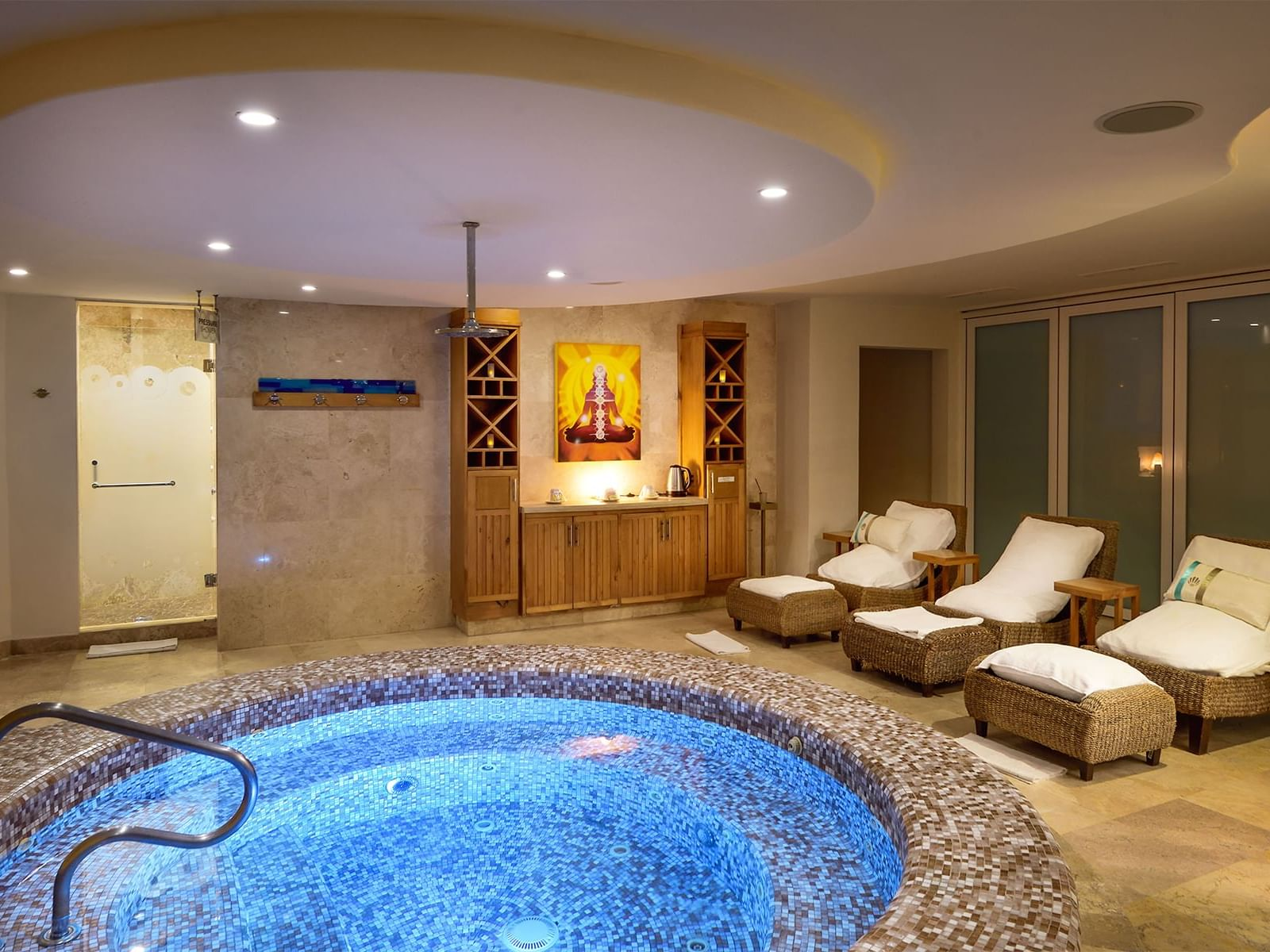 Interior view of Sparitual at Cabo Villas Beach Resort