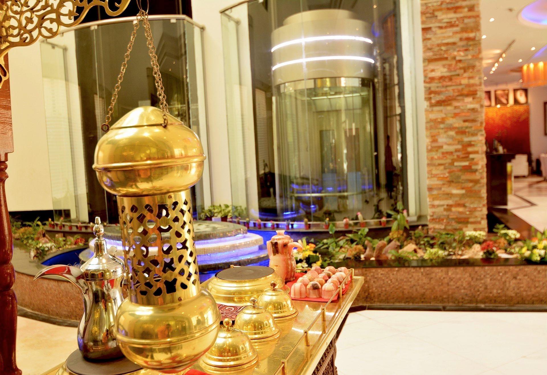 Close-up detail at Dabab Hotel by Warwick