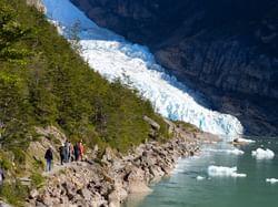 Glaciers and navgation Patagonia