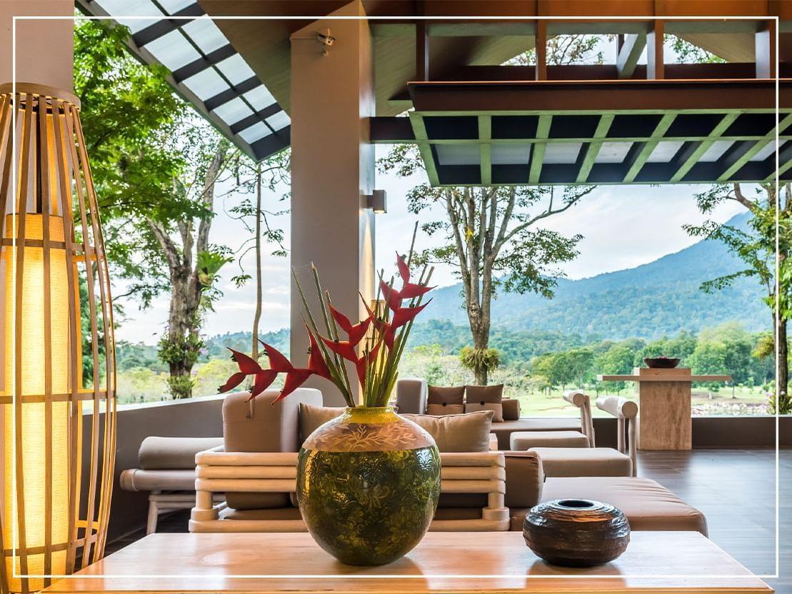 Lobby Sitting Area of Chatrium Golf Resort Soi Dao Chanthaburi