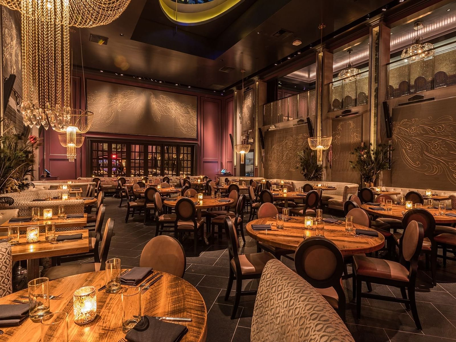 Beautiful dinning room at Beauty & Essex at Dream Hollywood
