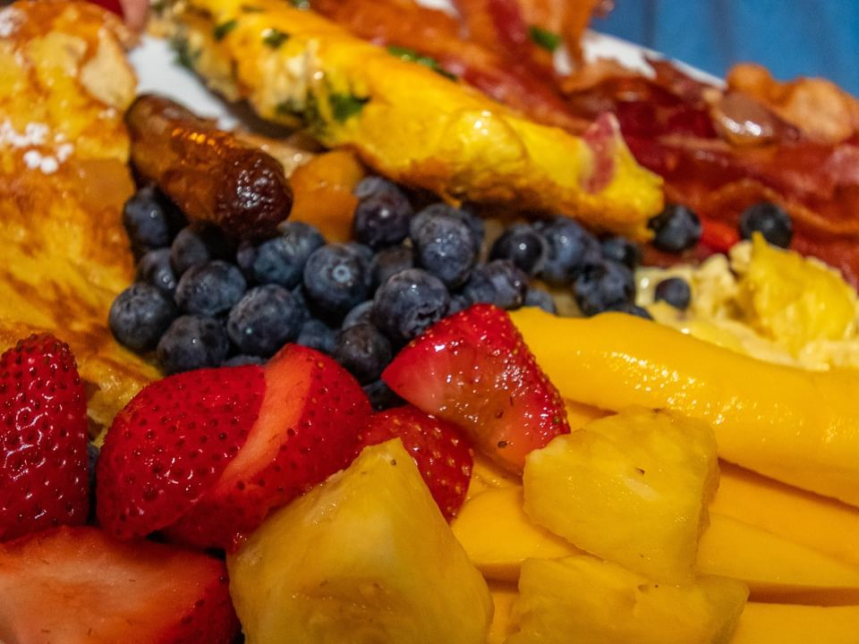 Breakfast dish at Ocean Flame in Shephard's Beach Resort