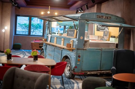 Foodtruck at Hotel Hubert Brussels near Grand Place