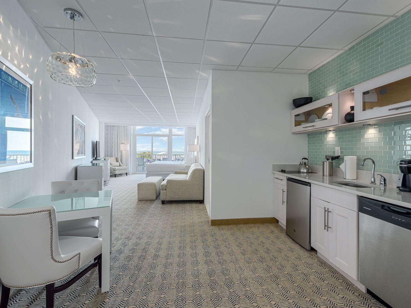 Premium Poolside King Studio Beachfront Hotel Room in the Wildwood NJ
