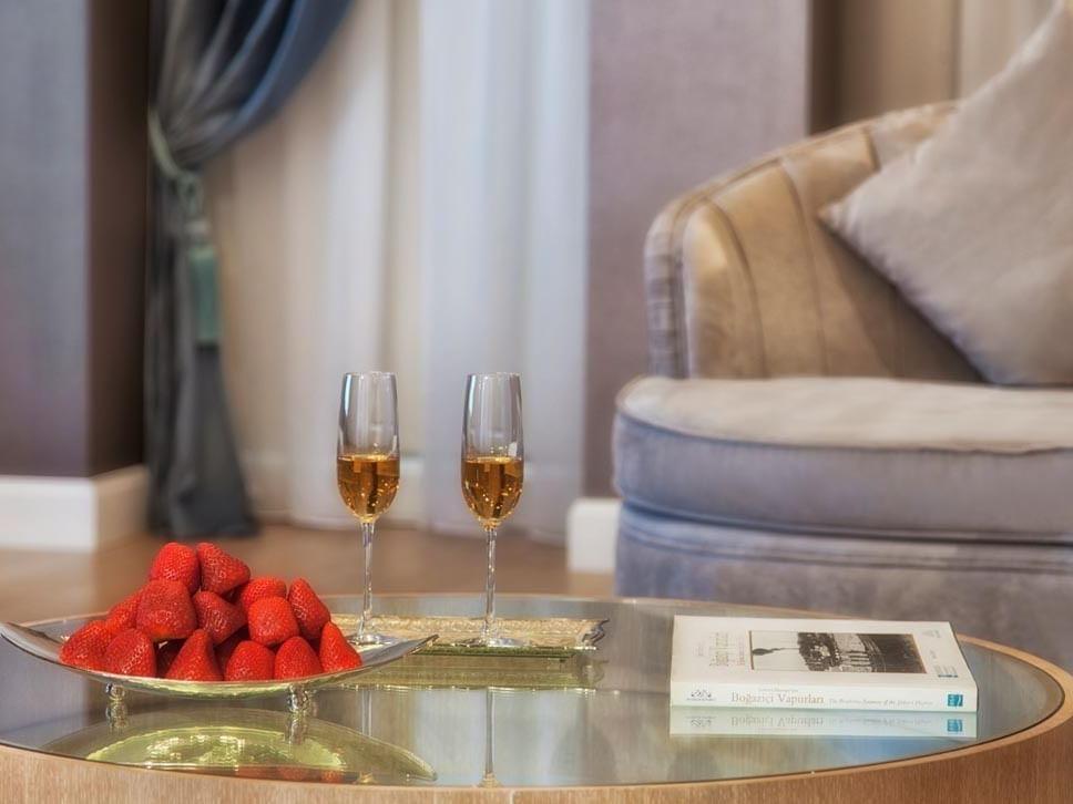 Champagne & strawberries at CVK Park Bosphorus Hotel Istanbul