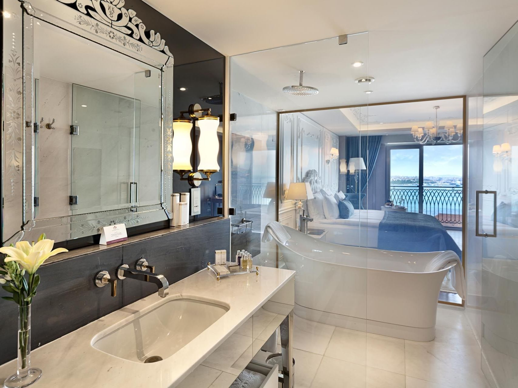 Bathroom in the Deluxe Room at CVK Park Bosphorus Hotel