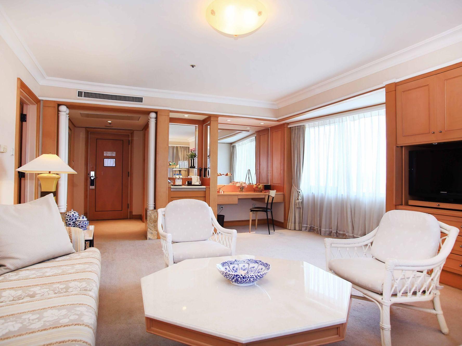 Club Suite living area at Hanoi Daewoo Hotel