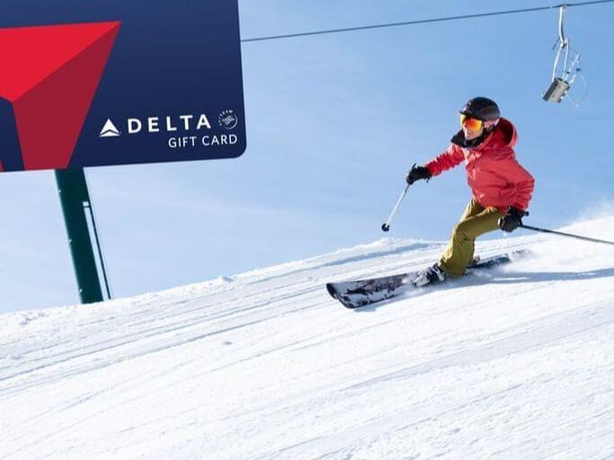 a person skiing down a mountain